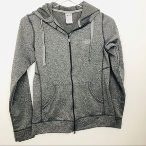 North face gray zip up hoodie size small